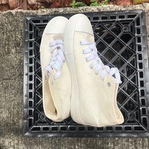 Cream/White High Tops